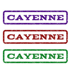 Cayenne watermark stamp vector