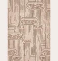 classical pattern ancient columns drawn in vector image