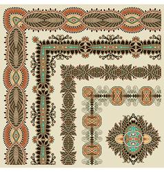 Collection ornamental floral vintage frame desi vector