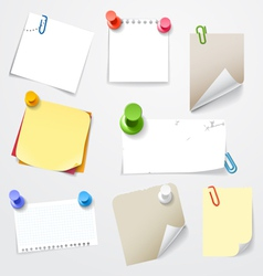 Collectionn of paper stickers vector image