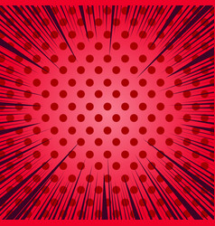 comic red light background vector image