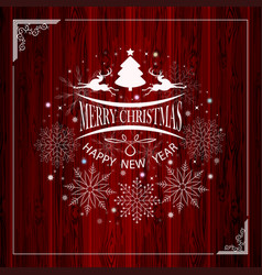composition with frame from a set of christmas vector image