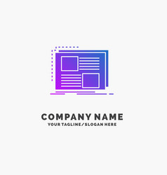 content design frame page text purple business vector image