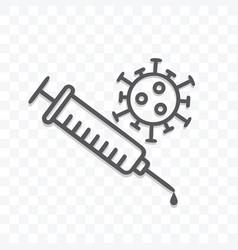 corona virus vaccine icon isolated on transparent vector image
