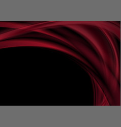 dark red abstract smooth blurred waves background vector image