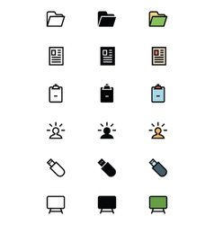 Education Outline Filled and Colored Icons 14 vector