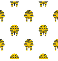 Egyptian golden pharaohs mask pattern seamless vector