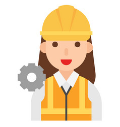 engineer icon profession and job vector image