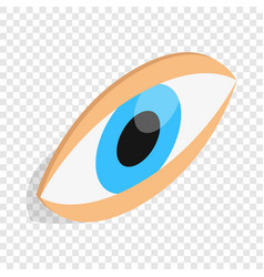 Eyes isometric icon vector