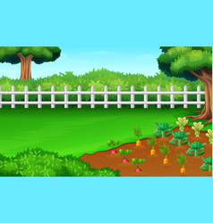 farm fields view in the daylght vector image