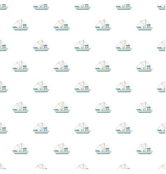fishing boat pattern vector image