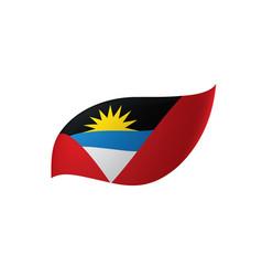 flag of antigua and barbuda vector image