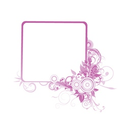 Floral frame with space for text vector