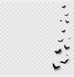 flying bats on transparent background vector image