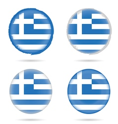 greek flag icon in colorful on white background vector image