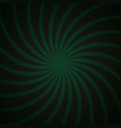 Green and black spiral vintage vector