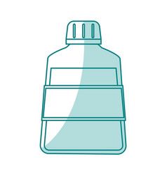 Green shading silhouette cartoon mouthwash for vector