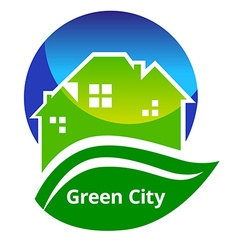 GreenCitySign vector image