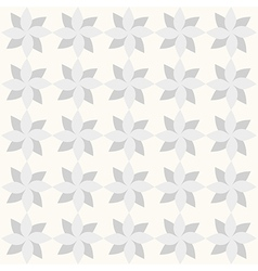 Grey geometrical flowers on white backdrop vector