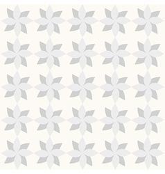 Grey geometrical flowers on white backdrop vector