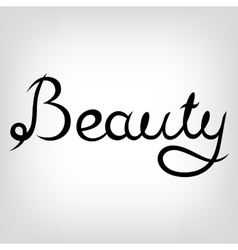Hand-drawn Lettering Beauty vector