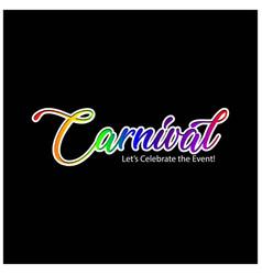 happy brazilian carnival day simple carnival vector image