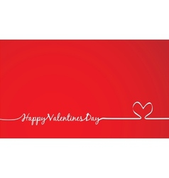 happy Valentines Day -Handmade Calligraphy vector image