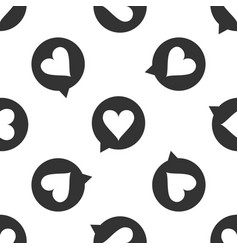 heart in speech bubble icon seamless pattern vector image