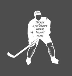 Hockey motivational quote vector