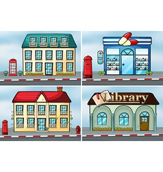 Houses and shops vector image