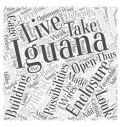 Iguana enclosures Word Cloud Concept vector