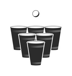 Illstration beerpong icon flat design vector