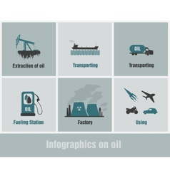 infographics on oil vector image