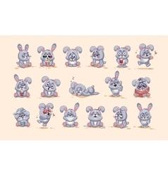 Isolated Emoji character cartoon Gray leveret vector