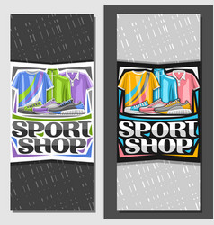 layouts for sport shop vector image
