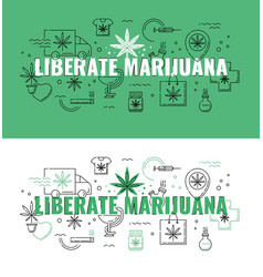 liberate marijuana text design - marijuana vector image
