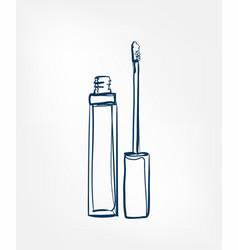 Lip gloss line clip art isolated cosmetics vector