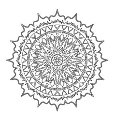 mandala round pattern vector image