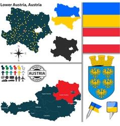 Map lower austria vector