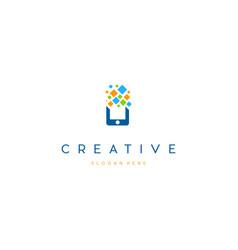 Mobile cell digital creative business logo design vector