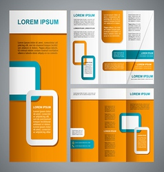 Modern brochure template vector