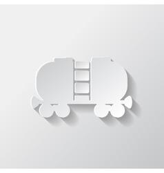 Oil tank icon vector image vector image
