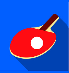 Ping-pong icon flate single sport icon from the vector