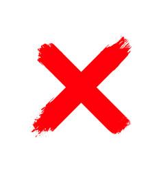 re wrong cross symbol handwritten vote ink vector image
