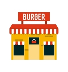 Restaurant outside design vector
