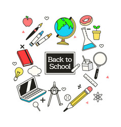 School elements for the advertising of sale vector