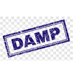 Scratched damp rectangle stamp vector