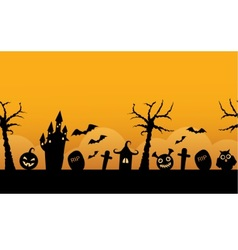 seamless horizontal background halloween vector image