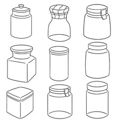set of jar vector image