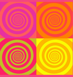 set psychedelic spirals in retro comic style vector image
